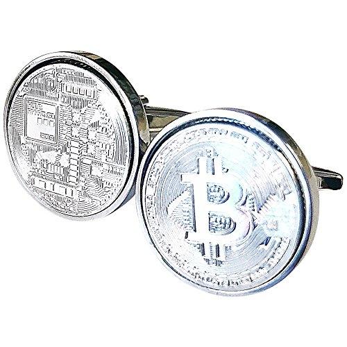 Bañado en plata Gemelos de Bitcoin 100% garantía de satisfacción en caja regalo Gemelos Gemelos de realmente único para llevar o para dar como regalo.