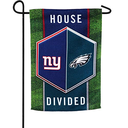 Team Sports Amerika New York Giants vs Philadelphia Eagles House Geteilte Wildleder Gartenflagge