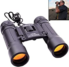 Cartshopper Comet 10x25 Powerful Hunting Outdoor Long Prism Binocular Telescope with Pouch
