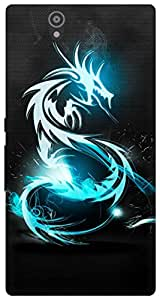 The Racoon Grip Blue Dragon hard plastic printed back case for Sony Xperia Z