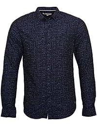TOM TAILOR Hemd Fitted Melange AOP Shirt 2055101 0012 6740 XXL
