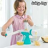 appetitissime Juicy Joy succo e macchina del ghiaccio con manovella, Blu, 13,5x 24x 35cm