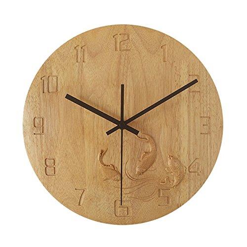 Gyps Home Wohnzimmer Schlafzimmer Büro Cafe Bar Decor Retro Wanduhr Original Vintage Rustikale Wanduhr Chinesische Moderne Holz- Wanduhr Creative Wohnzimmer Uhren Personalisierte