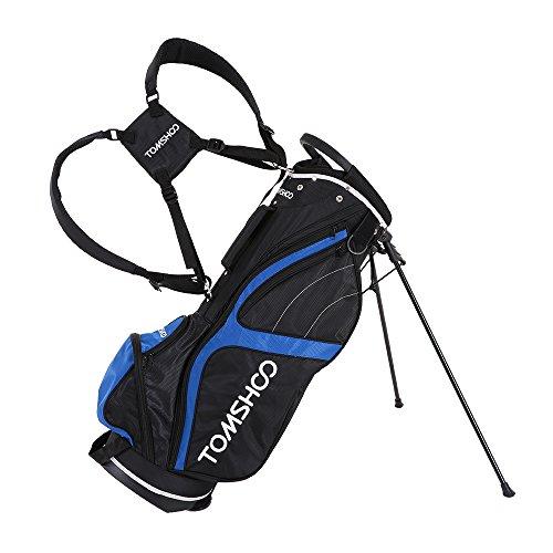 TOMSHOO Leichte Golf Stand Bag Cart Bag 14 Way Ganzkörperansicht Einzel Divider Top Golftasche Golf Club-Organisator-Beutel