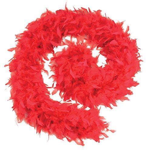 Rock Pudel Kostüm Schal - Bristol Novelty BA1671 Federboa, Rot, Einheitsgröße
