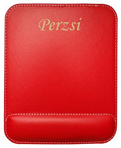 Preisvergleich Produktbild Kundenspezifischer gravierter Mauspad aus Kunstleder mit Namen Perzsi (Vorname / Zuname / Spitzname)