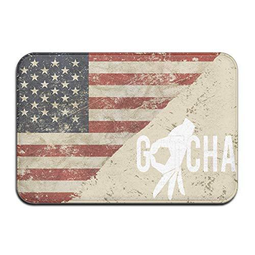 flys atopking Gotcha Finger US Flag Fußmatten Bad Teppiche für Indoor-Außen Badezimmer 23,6x15,7 Zoll - Us-indoor-flag
