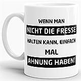 Tasse mit Spruch Ahnung Haben - Kaffeetasse/Mug/Cup - Qualität Made in Germany