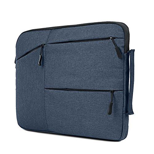 iCasso Schützend Weich Handtasche Tragetasche Notebooktasche Laptop sleeve Einfachen Stil Hülle für Laptop / Dell / Surface / MacBook, Notebook und Tablet / Lenovo / Samsung (11-13.3 Zoll,Dunkelblau)
