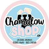 Bavoir rose Cheshire cats chibi et kawaii, chat de Cheshire version Tim burton vs Disney - Chamalow Shop
