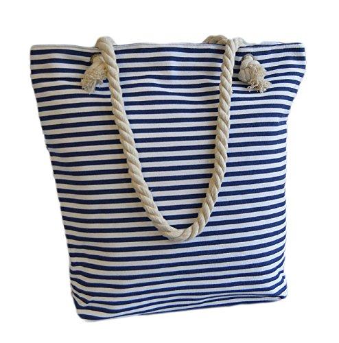 Maritim XXL & L Borsa Da Spiaggia Con Ancora Print, Borsa a spalla, Shopper, Kordel 141 Rosso Anker Rot xxl Anker Blau