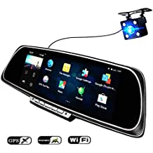 "ANSTAR 6.86"" Touch Screen Android GPS Navigation Mirror Car DVR Dual Lens Camera Full HD 1080P Rear Parking WiFi FM cam recorder Can as the Thanksgiving and Christmas Gift"