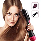 Hiveseen Hair Dryer Brush One Step, 3-in-1 Hot Air Styler and Volumizer, Negative Ion Curler Straightening Comb, 2 Temperatures & 3 Speeds, Reduce Frizz and Static Suitable for Long hair
