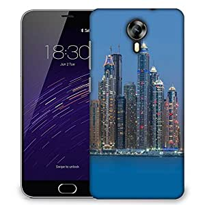 Snoogg Tall Buildings Designer Protective Phone Back Case Cover For Meizu M2