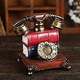 Lx.AZ.Kx Suministros inicio Salón decoraciones adornos celulares mantener depósito artesanía minimalista moderno teléfono rojo