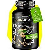 Original GAINMONKEY Omega 3 Kapseln I 100 hochdosierte Fischöl Caps 1000mg I 180mg EPA & 120mg DHA pro Kapsel