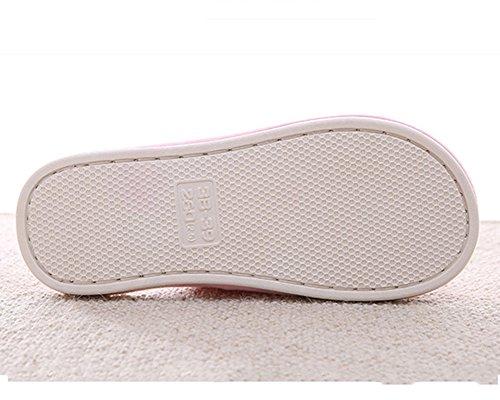 Chaussons Dintérieur Supersoft Pantoufles Couple Hommes Femmes Chaud Slipper Shoes pink