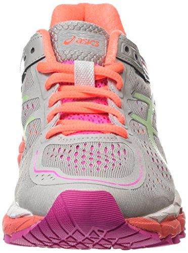 Asics Gel-kayano 22, Chaussures de Running Entrainement Femme Gris (Silver Grey/Pistachio/Fiery Co 1087)