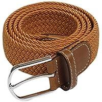 JIER Cinturón elástico Tejido - Multi-Colores Cinturón de Tejido elástico Trenzado la Tela de Estiramiento para Hombres Mujeres