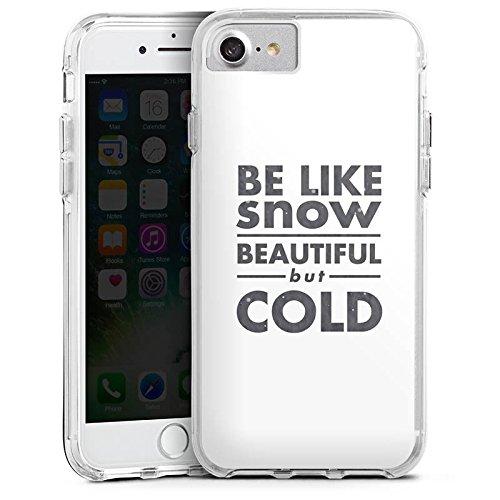 Apple iPhone X Bumper Hülle Bumper Case Glitzer Hülle Sayings Sprüche Phrases Bumper Case transparent