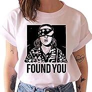 Camiseta Stranger Things Niña, Camiseta Stranger Things Mujer Impresión Manga T-Shirt Abecedario Chicas Camise
