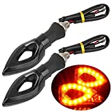 Blinklicht Moto raucht (1 Paar) LED Triangle Orange 12 V Scooter ESS Tech® Hornet GSXR RSV R1 R6 ZX ER6 N Tuning Flashing Markierleuchten Quad Raptor