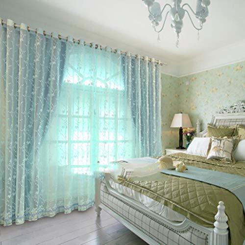 YANQ Spitze Blackout Vorhänge Fertige Schlafzimmer Kinder Benutzerdefinierte Prinzessin Wind Vorhang Tuch Bildschirme Eins (Farbe : Blau, größe : 200cm*270cm)