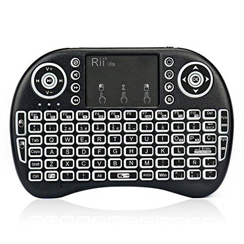 Rii mini i8s Mini teclado Inalámbrico (Layout Español) - 2.4GHz Mini Teclado...