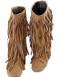 b24e58907d844 Suchergebnis auf Amazon.de für: fransenstiefel - Schuhe: Schuhe ...