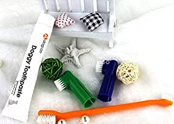 Slb Works 1Set Health Teeth Pet Dog Cat Toothbrush and Toothpaste Cleaning Oral Care UK