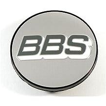 BBS Símbolo Disco Gris de blanco de plata 70,6 mm nabenabdeckung/Buje Tapa