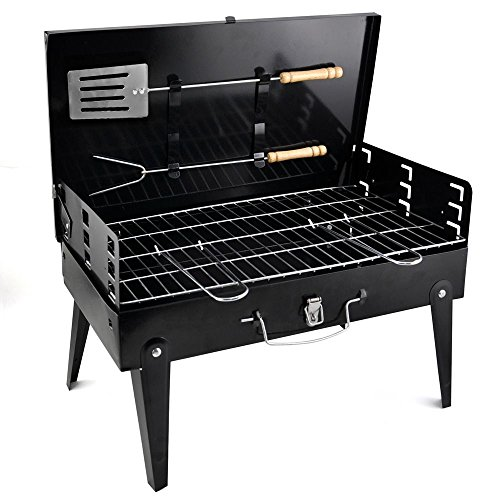 51oP3mIYP L. SS500  - Denny Shop Portable Folding Charcoal Barbecue Grill For Outdoor Garden Camping BBQ With Utensil Tools by Crystals®