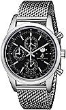 Breitling Herren-Chronograph Transocean A1931012-BB68, 43mm, Armband und Gehäuse aus Edelstahl, Automatik-Uhrwerk, schwarzes Zifferblatt