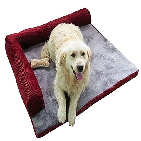 Tapis de lit pour chien Canapé confortable épaisse avec amovible Fiche résistance au Bite pour grande pour animal domestique
