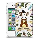 Head Case Designs Bär Seelen Tiere Abbildungen Ruckseite Hülle für iPhone 4 / iPhone 4S