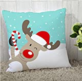 The Purple Tree Merry Christmas Cushion Cover (16x16 inches) 1 pc , christmas cushion covers , christmas decorations, christmas gifts , christmas décor STFC00390