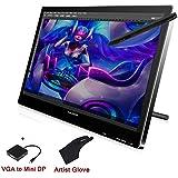 """Huion 21.5"""" Überwachen Drawing Grafiktablett PC IPS Interactive Pen Display HD-Auflösung kompatibel mit Apple MacBook Air Pro iMac mit Mini-DP zum VGA-Kabel und Schirm-Schutz- GT-220 Assemble schwarz"""