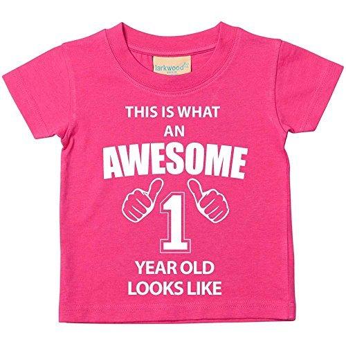 Das ist es, was eine Awesome 1Jahr aussieht, Pink TShirt 1. Geburtstag Baby Kleinkind Kinder erhältlich in den Größen 0-6Monaten bis 14-15Jahren Baby Schwester Geschenk - Rosa, 18-24 Months (4 Kleinkind-t-shirt)