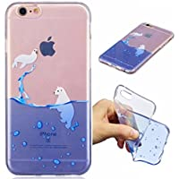 Funda iPhone 6 PLUS silicona transparente Ultra-fino TPU suave Carcasa Bumper DECHYI Patrón arte-sigillo