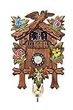 Selva Pendeluhr Lörrach Handgefertigter Schwarzwald-Stil – Made in Germany – In Nussbaum gebeizter Korpus, ideenreich verziert – Eine schicke und preisgünstige Wanddekoration! (Höhe: 26 cm) – C341964