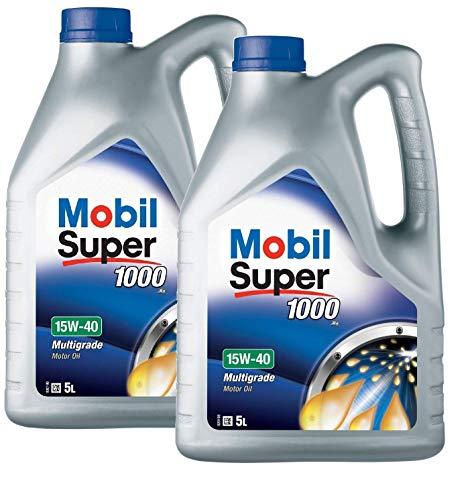 Mobil 151180 Super 1000 X1 - Olio Motore 15W-40, Confezione da 10 Lit