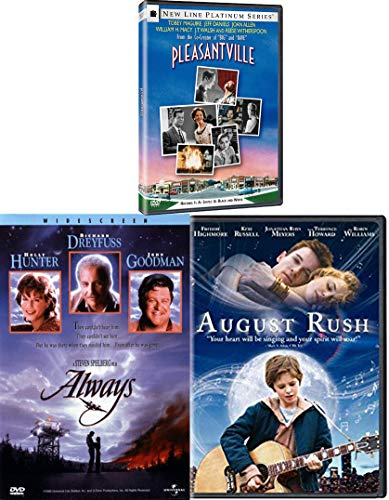 Life Imitates Art 3 Pack Pleasantville & Tales of Music August Rush + Always Stephen Spielberg 3 DVD Family movies Triple Feature