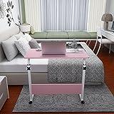 KHSKX Moda abatible portátil de mesa, cama extraíble elevación escritorio , Pink