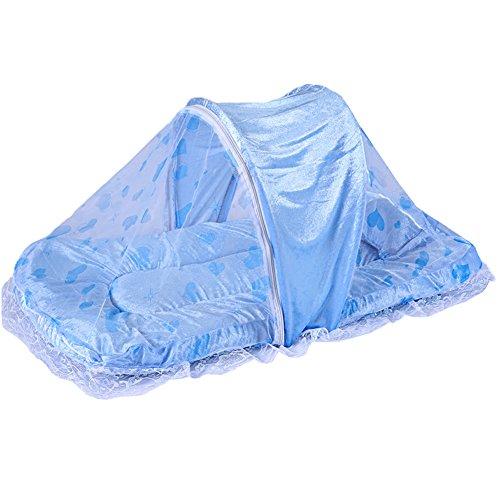 Faltbares Moskitonetz mit Schlafsack Insekt Netting Krippen-Blau