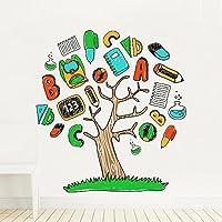 DecalMile Vinilos Arbol Letras Pegatinas De Pared Desmontable Adhesivos Decorativos Para Habitación De Niños Vivero Aula Infantiles Dormitorio