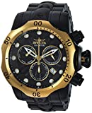 INVICTA MEN'S VENOM BLACK STEEL BRACELET & CASE SWISS QUARTZ WATCH 23895