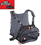 Fox Rage Voyager Tackle Vest, Angeltasche inkl. 2 Angelboxen / Tackleboxen, Anglertasche zum Spinnfischen, Angelweste für Köder, Fox Tasche