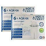 Aqua Crest AQK-06 Compatible filtre Brita classique Jug (12)