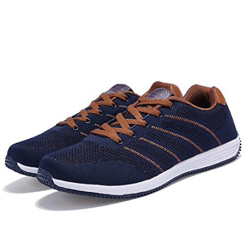 Hommes Grande Taille Respirant Sport Chaussures Chaussures De Course Chaussures De Course Baskets Trainers Euro Voyage Chaussures Taille 39-48 Brun