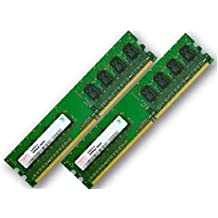 4 GB Dual Channel kit: 2 x 2 GB 240 pin DIMM HYNIX original DDR2-800 (PC2-6400, 800 mhz, CL6) doble (HYMP125U64CP8 - S6) para DDR2 ordenador - 100% compatible con PC2-5300, 667 mhz, CL5